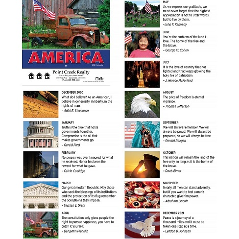 Monthly Scenes of America 2021 Calendar