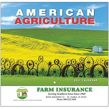 Cover of Americam Agriculture 2021 Calendar