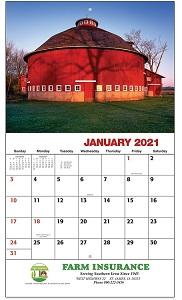 Americam Agriculture 2021 Calendar
