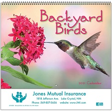 Cover of Backyard Birds 2021 Calendar