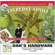 Cover of Old Farmers Almanac Advice 2021 Calendar