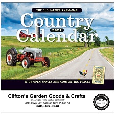 Cover of Old Farmers Almanac Country 2021 Calendar