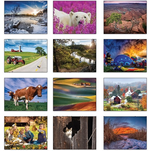 Monthly Scenes of Old Farmers Almanac Country 2021 Calendar