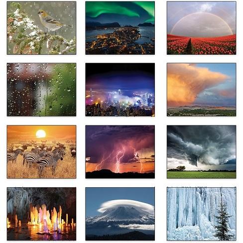 Monthly Scenes of Old Farmers Almanac Weather Watchers 2021 Calendar