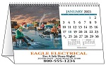 America Remembered 2021 Desk Tent Calendar - open
