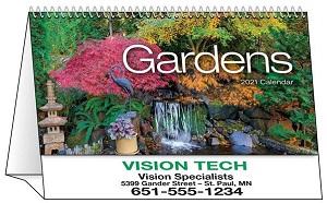 Gardens 2021 Desk Tent Calendar Cover