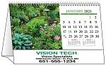Gardens 2021 Desk Tent Calendar - open
