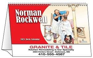 Rockwell 2021 Desk Tent Calendar Cover
