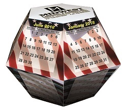 Flag Design Pop Up Calendar