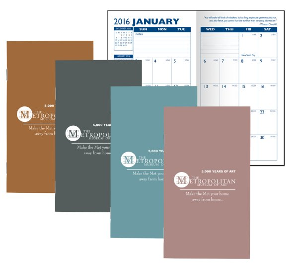 Metallic Cover Monthly Pocket Planners