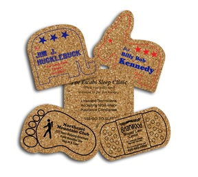 5-inch King Size Cork Coasters