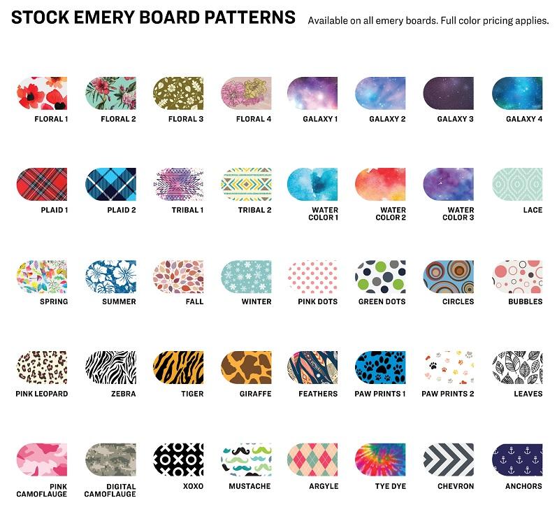 Stock Art Designs for Emery Board