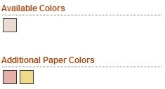 Available Emery Board Paper Colors