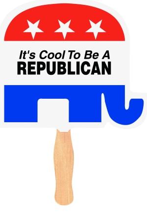Elephant Political Campaign Fan