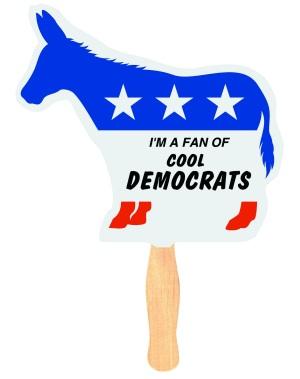 Donkey Political Campaign Fan