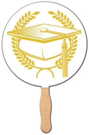 Graduation Cap Hand Fan