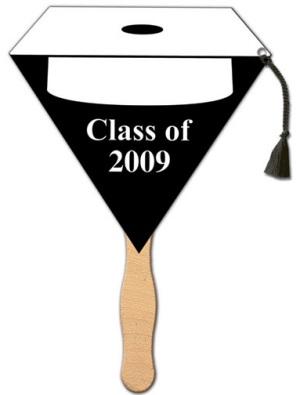 Graduation White Cap Tassle Fan