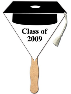 Graduation Black Cap Tassle Fan
