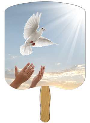 Dove Heavy Duty Church Hand Fan