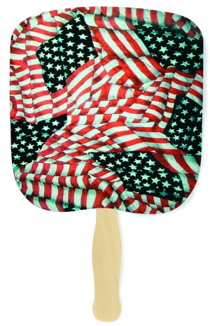 Quilted Glory Patriotic Hand Fan