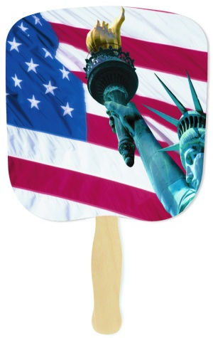 Liberty Patriotic Flag Fan