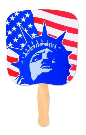 Lady Liberty Patriotic Hand Fan