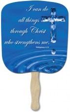 Philippians 4 13 Religious Hand Fan