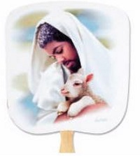 The Loving Shepherd Religious Church Fan