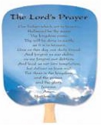 Lord's Prayer Religious Church Fan