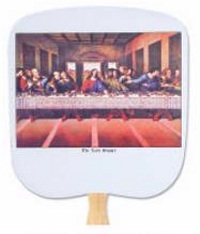 Last Supper Religious Church Hand Fan