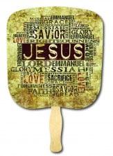 Jesus Our Savior Religious Hand Fan