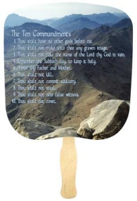 Ten Commandments Religious Church Fan