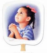 Prayerful Religious Church Hand Fan