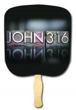 John 3 16 Religious Hand Fan