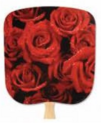 Roses Scenic Hand Fan