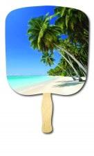 Beach Scene Scenic Hand Fan