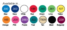 Vinyl Color Choices for EZ Gripper Jar Openers
