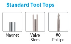 Standard Tool Tops for Pocket Screwdrivers