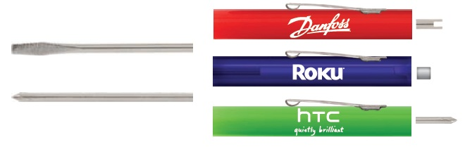 Regular or Phillips Blade Pocket Screwdriver with a Standard Top