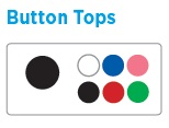 Button Top Colors for Pocket Screwdrivers